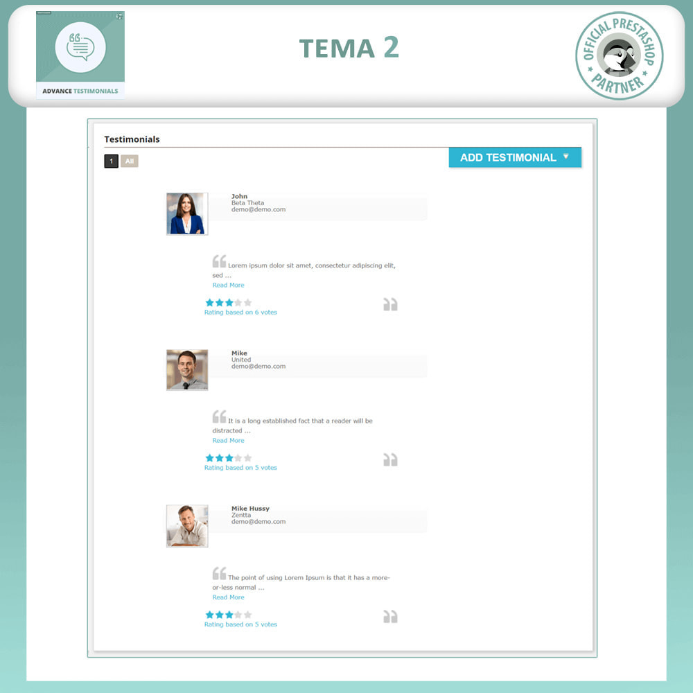 module - Comentarios de clientes - Testimonios anticipados - Reseñas de Clientes - 3