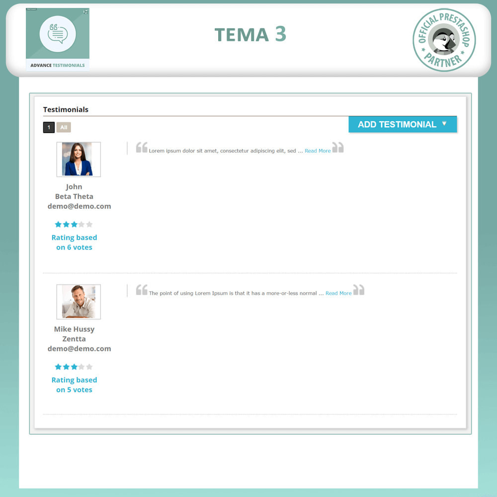 module - Comentarios de clientes - Testimonios anticipados - Reseñas de Clientes - 4