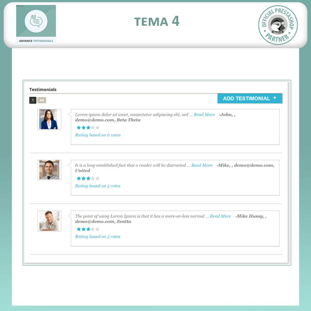 module - Comentarios de clientes - Testimonios anticipados - Reseñas de Clientes - 5