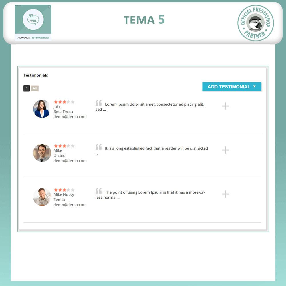 module - Comentarios de clientes - Testimonios anticipados - Reseñas de Clientes - 6