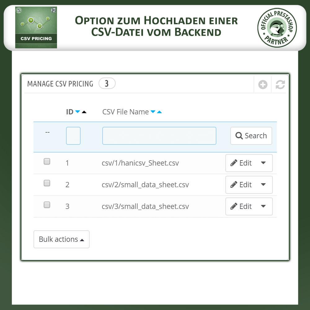 module - Größen & Einheiten - CSV Preisgestaltung - Flächenbasierte Preisgestaltung - 4