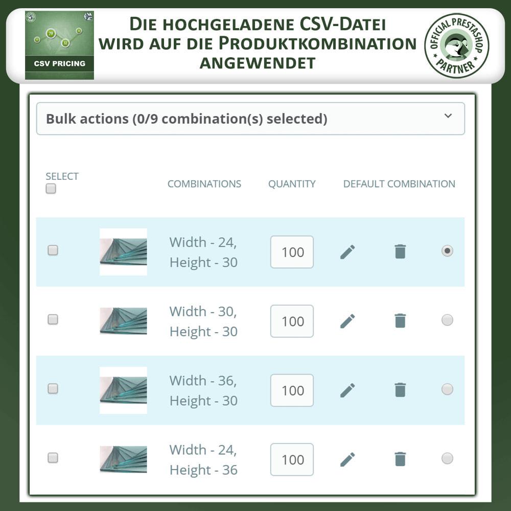 module - Größen & Einheiten - CSV Preisgestaltung - Flächenbasierte Preisgestaltung - 5