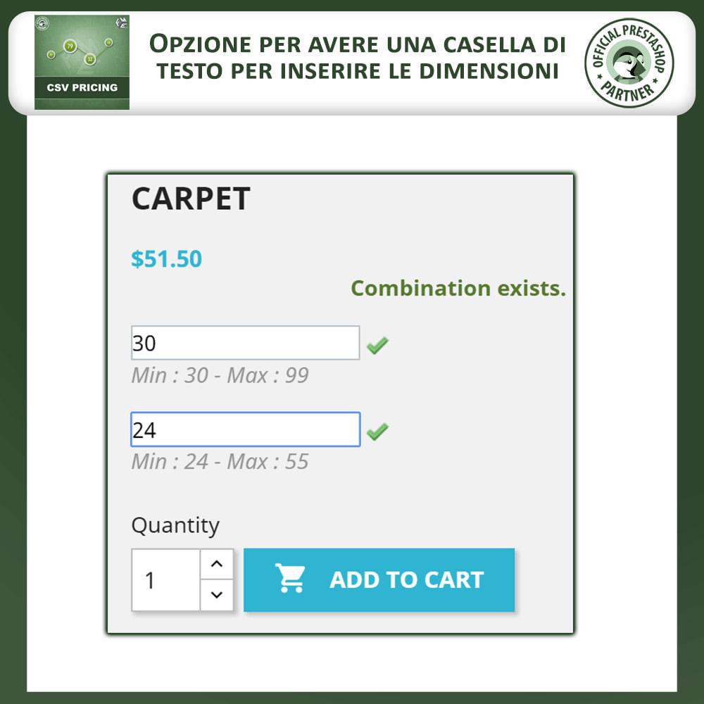 module - Grandezze & Unità di misura - CSV Pricing – Prezzi basati sull'Area - 3
