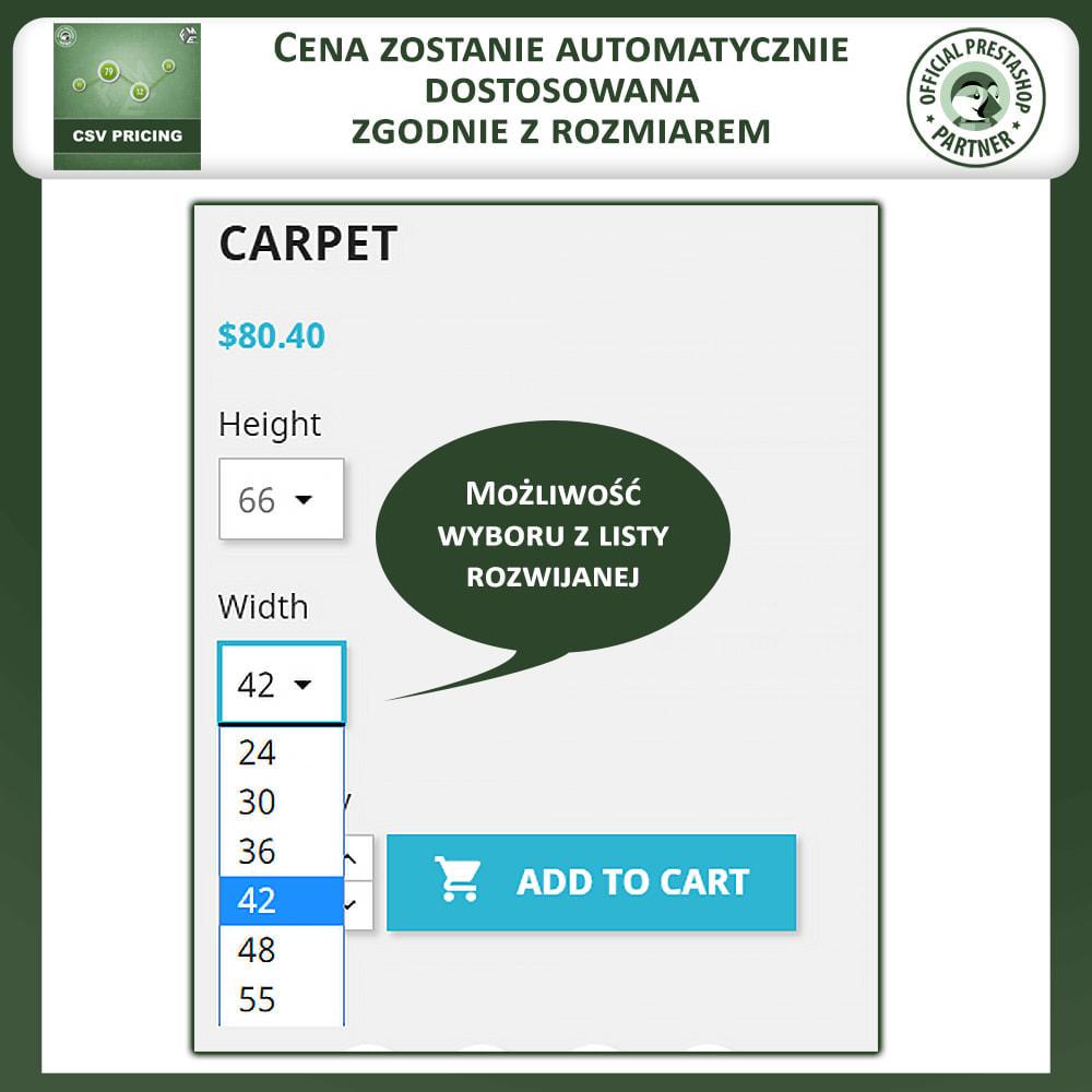 module - Rozmiary i jednostki - CSV Pricing - 2