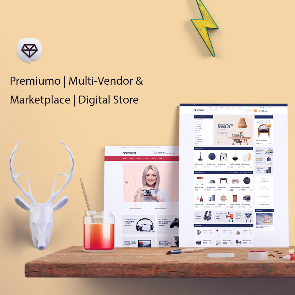 theme - Kunst & Kultur - Premiumo | Multi-Vendor & Marketplace | Digital Store - 1