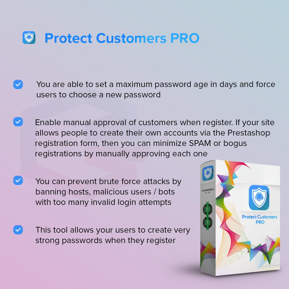 module - Bezpieczeństwa & Dostępu - Protect Customers PRO - 1