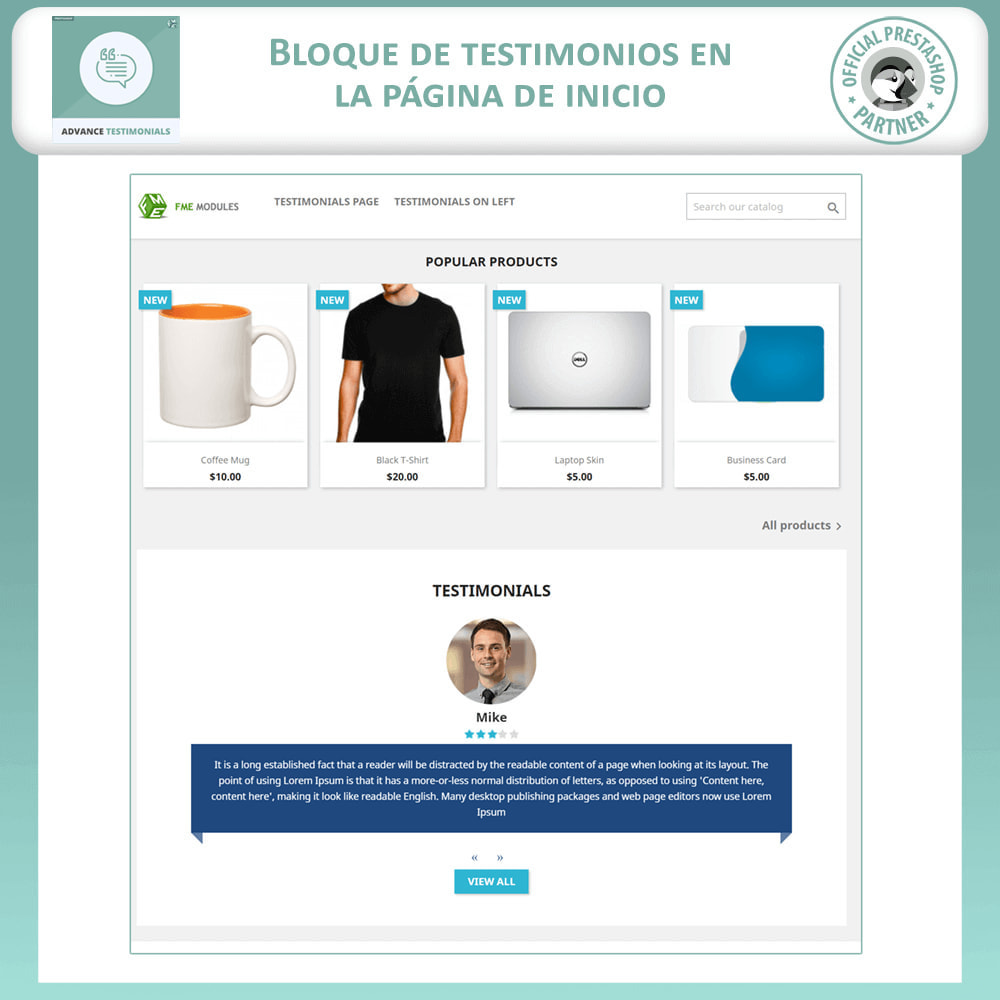 module - Comentarios de clientes - Testimonios anticipados - Reseñas de Clientes - 8