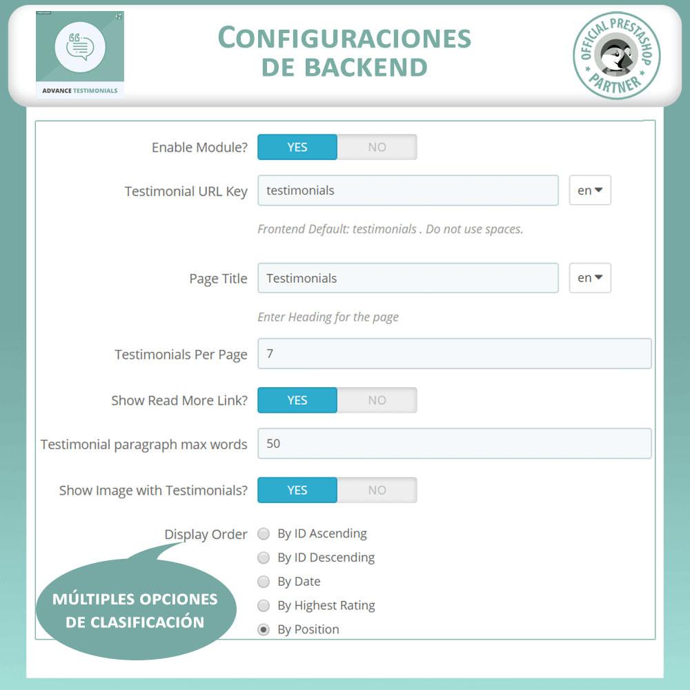 module - Comentarios de clientes - Testimonios anticipados - Reseñas de Clientes - 14