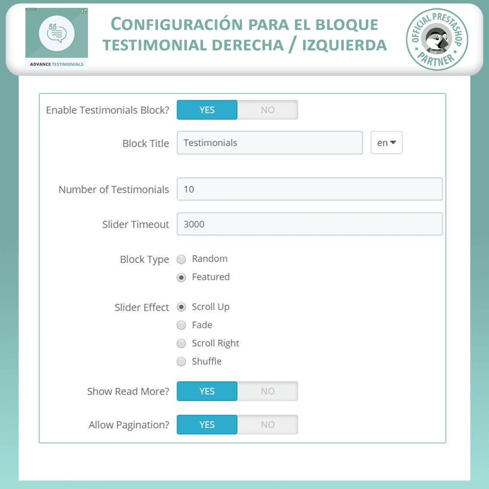 module - Comentarios de clientes - Testimonios anticipados - Reseñas de Clientes - 17