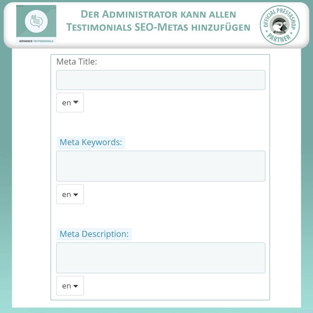 module - Kundenbewertungen - Fortgeschrittene Testimonials - Kundenrezensionen - 12