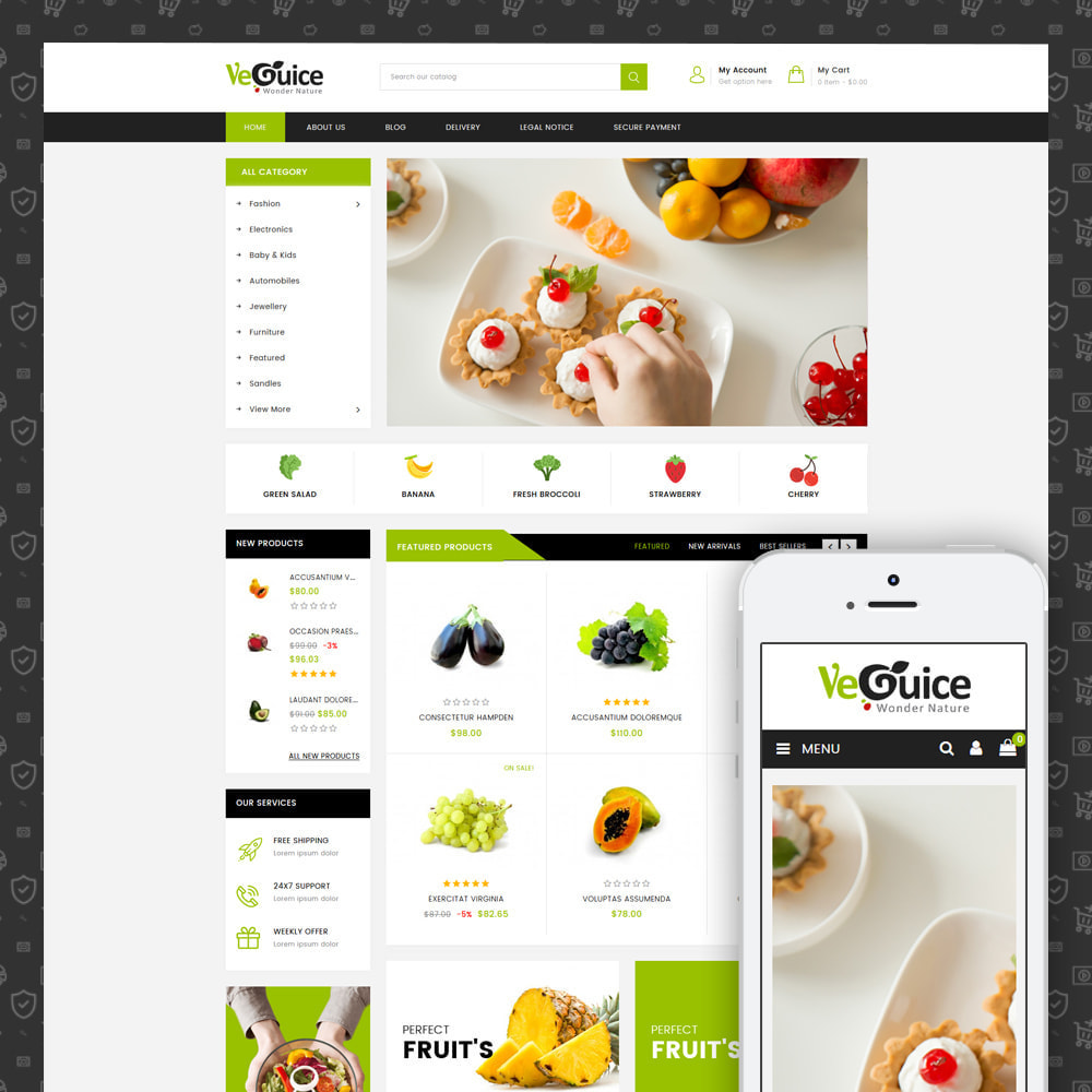 theme - Food & Restaurant - VeGuice - Organic Store - 1