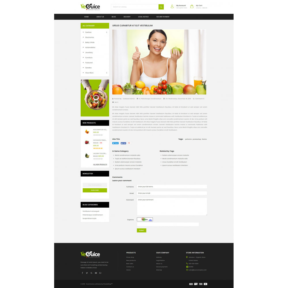 theme - Food & Restaurant - VeGuice - Organic Store - 9