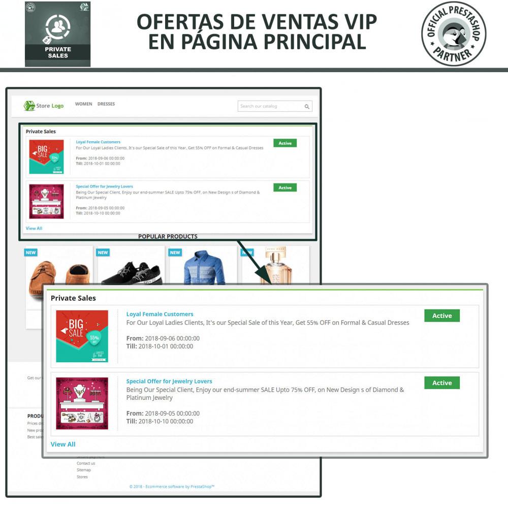 module - Ventas Privadas y Ventas Flash - Categoría privada, venta para grupos de clientes VIP - 3