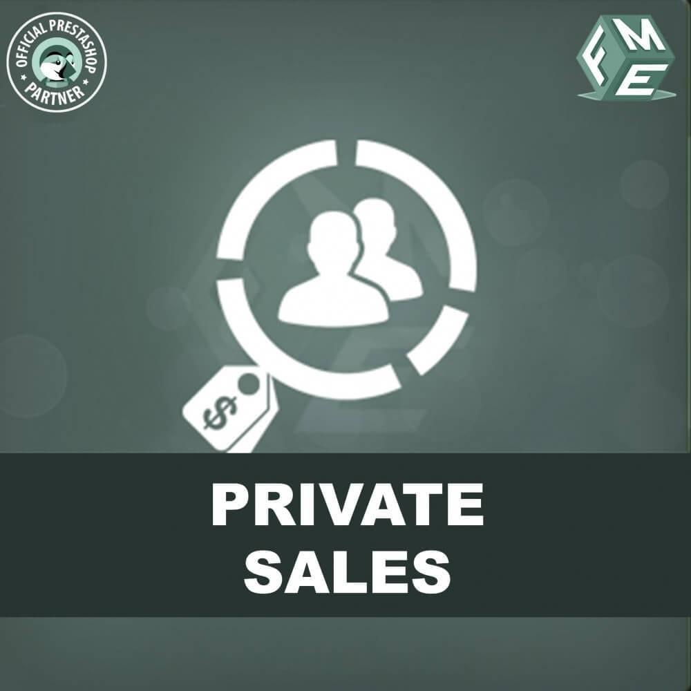 module - Flash & Private Sales - Categoria privata, vendita per gruppi di clienti VIP - 1