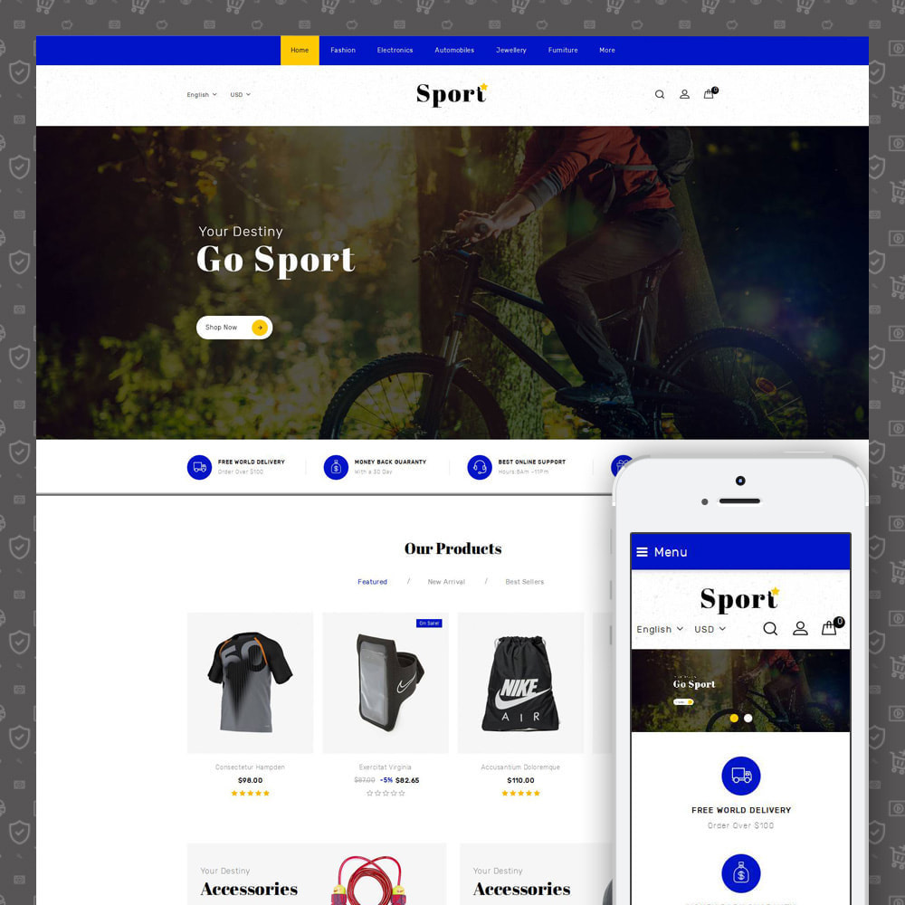 theme - Sports, Activities & Travel - Sport Star Accessories Store - 1
