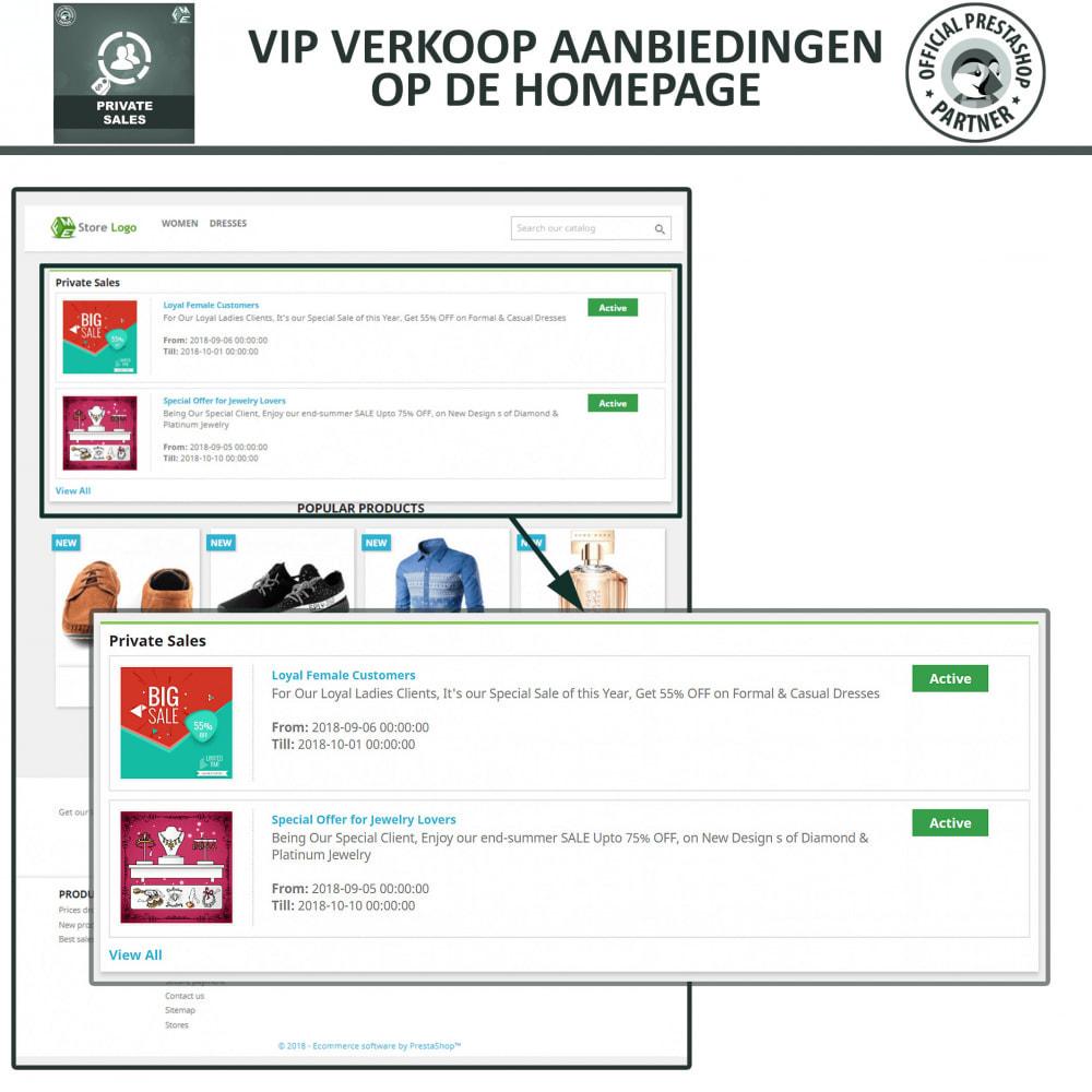 module - Uitverkoop & Besloten verkoop - Privé Verkopen voor VIP Klanten Groepen - 3