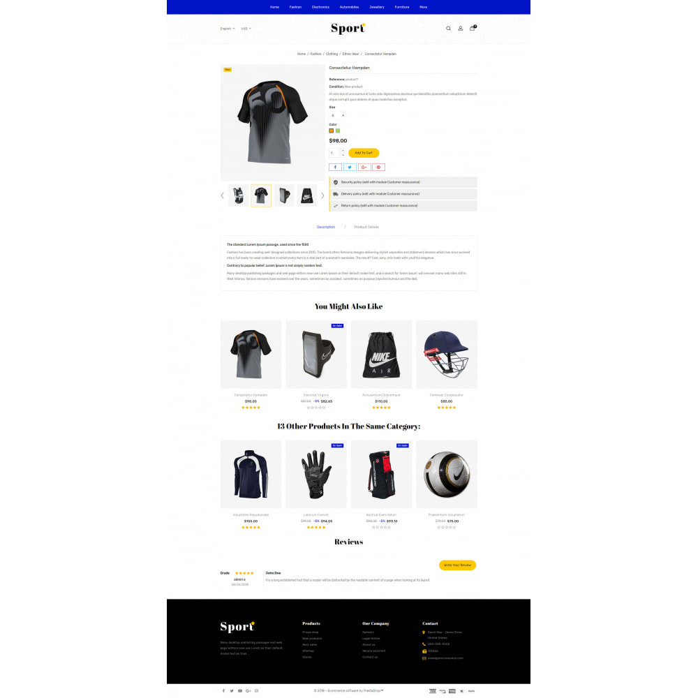 theme - Sports, Activities & Travel - Sport Star Accessories Store - 5