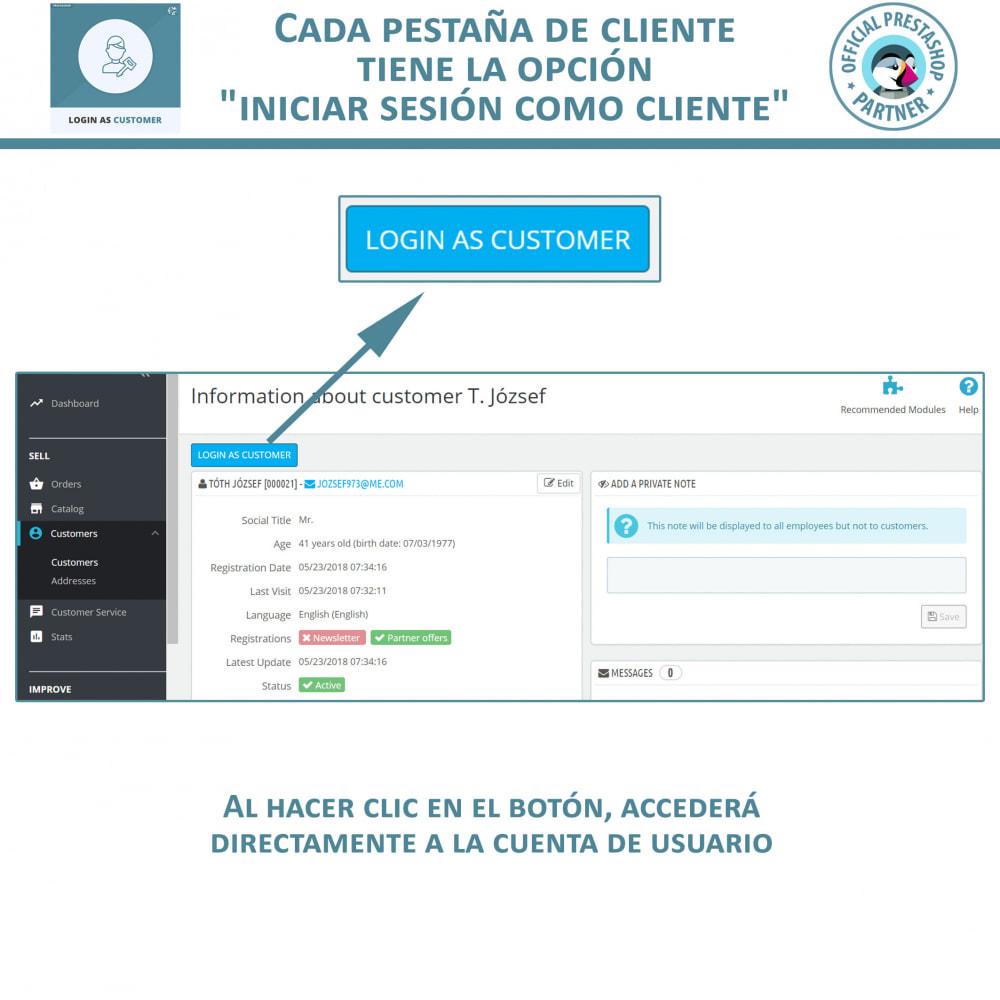 module - Servicio posventa - Iniciar sesión como cliente - 2