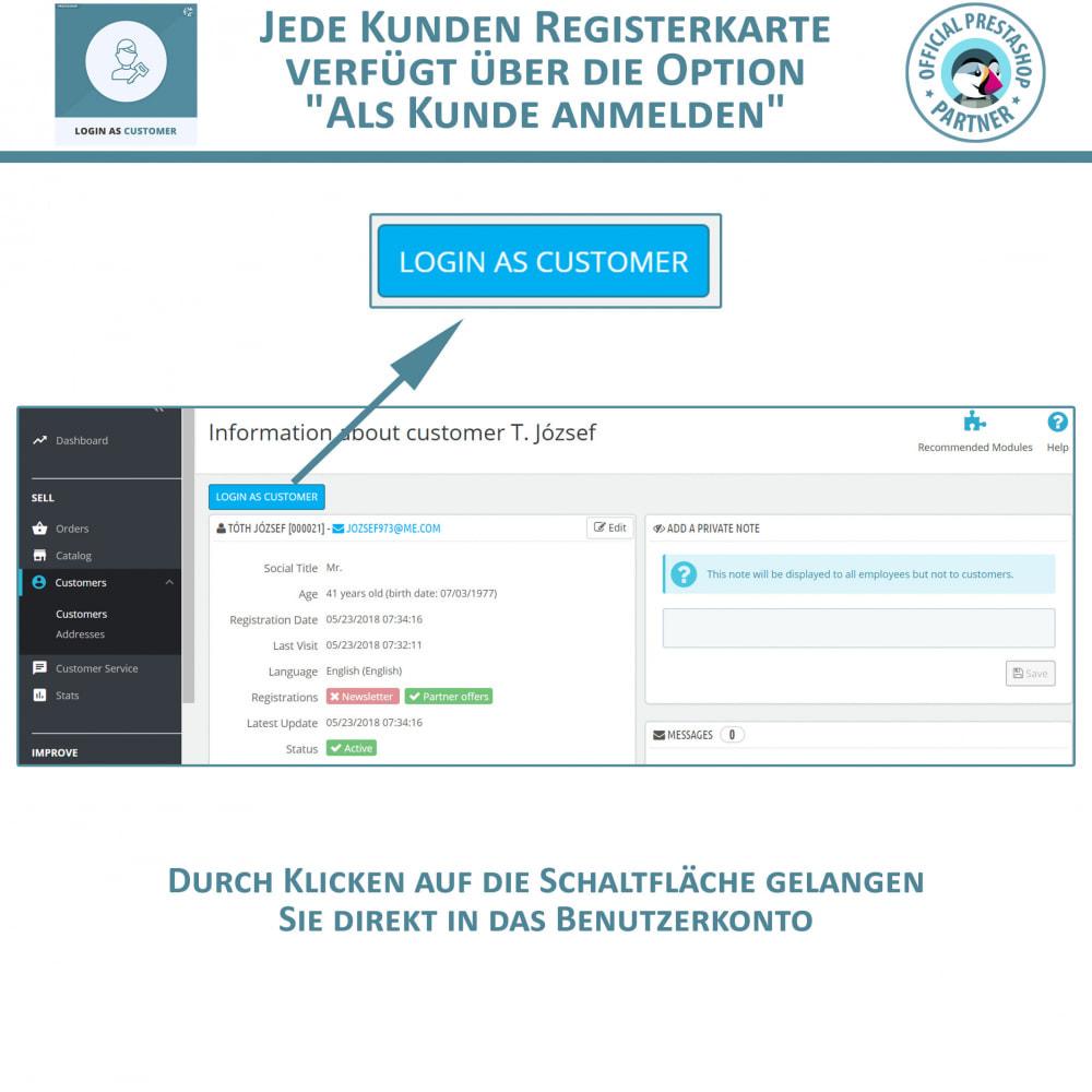 module - Kundenservice - Melden Sie sich als Kunde an - 2