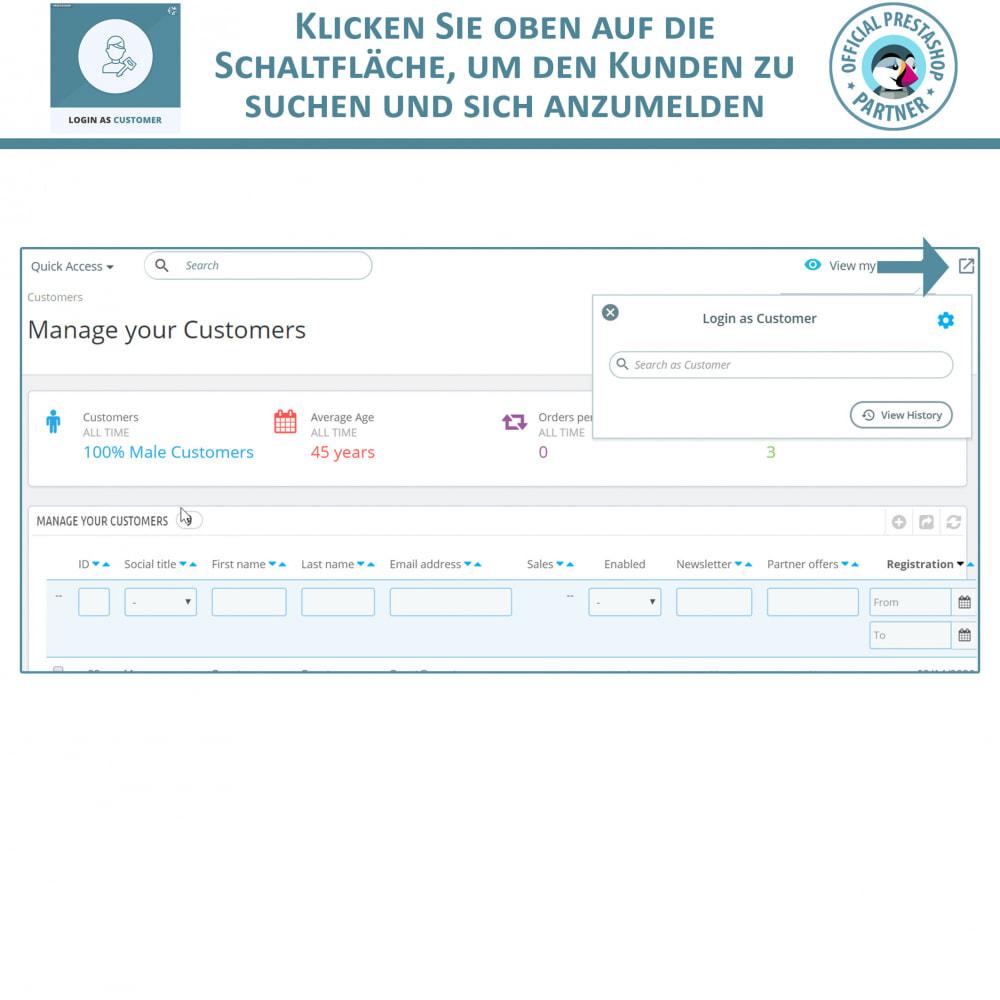 module - Kundenservice - Melden Sie sich als Kunde an - 4