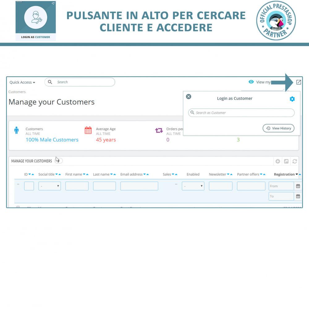 module - Servizio post-vendita - Accedi come cliente - 4