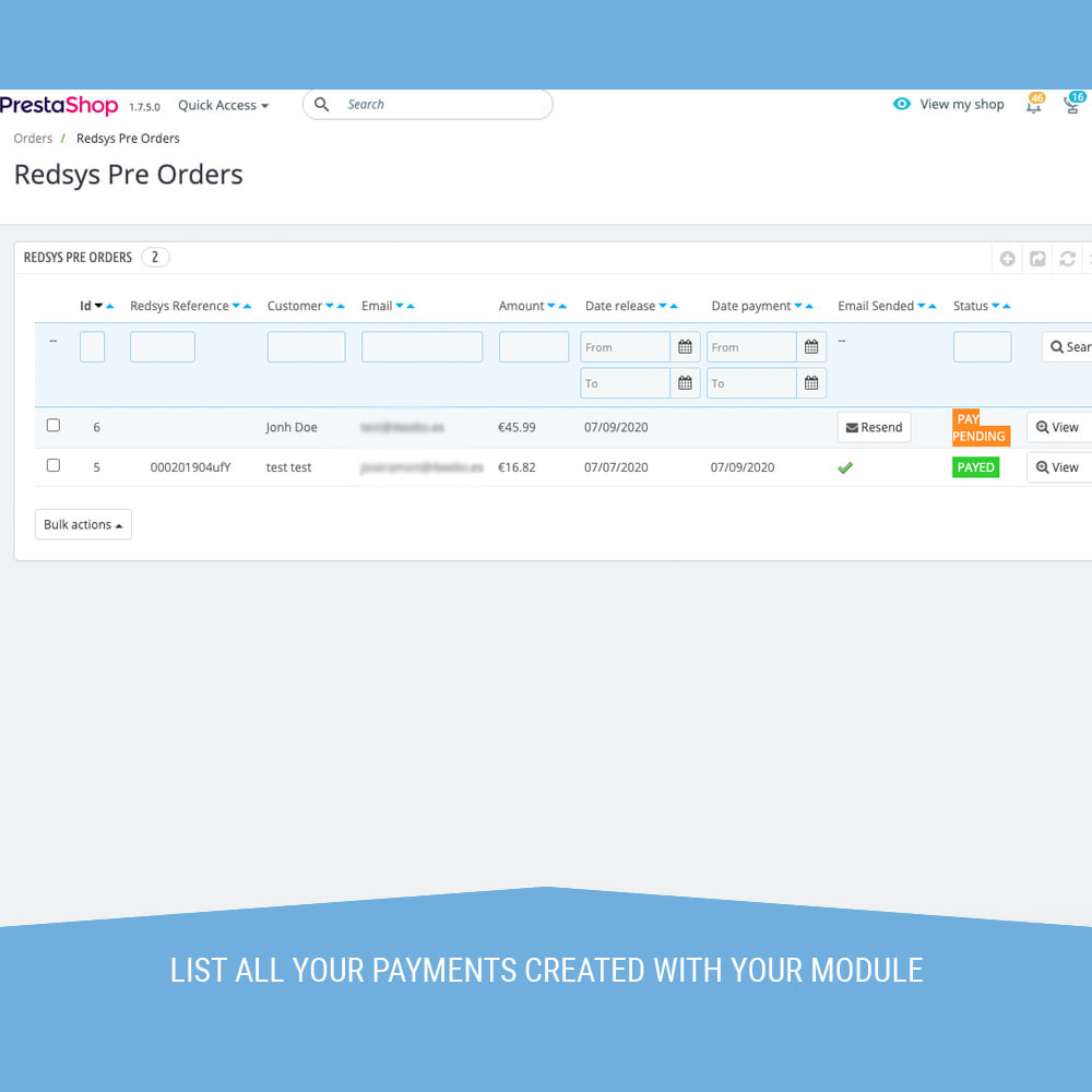 module - Payment by Card or Wallet - Redsys POS, Payment by phone and email without orders - 6