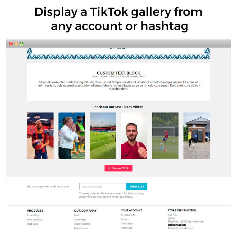 module - Widgety serwisów społecznościowych - TikTok Slider - Display TikTok Videos On Your Store - 2