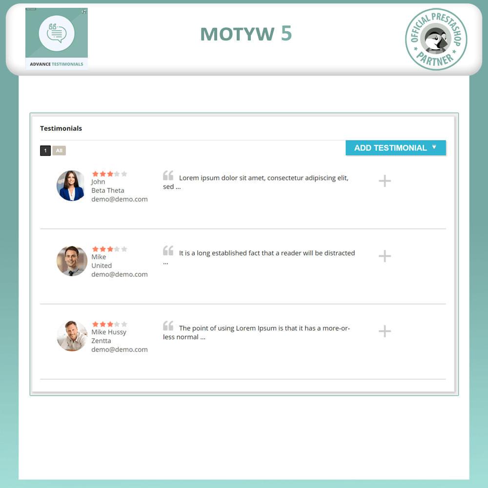 module - Opinie klientów - Zaawansowane referencje-recenzje klientów ze zdjęciami - 6