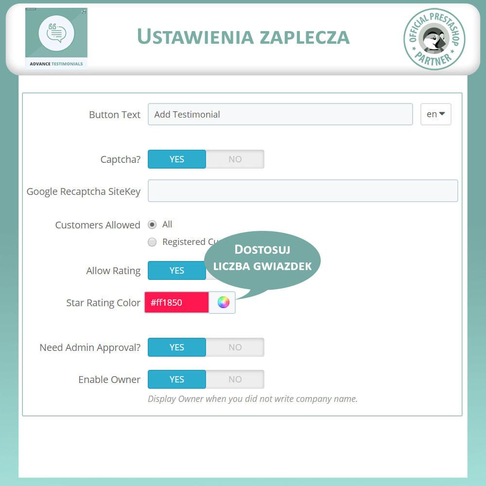 module - Opinie klientów - Zaawansowane referencje-recenzje klientów ze zdjęciami - 15