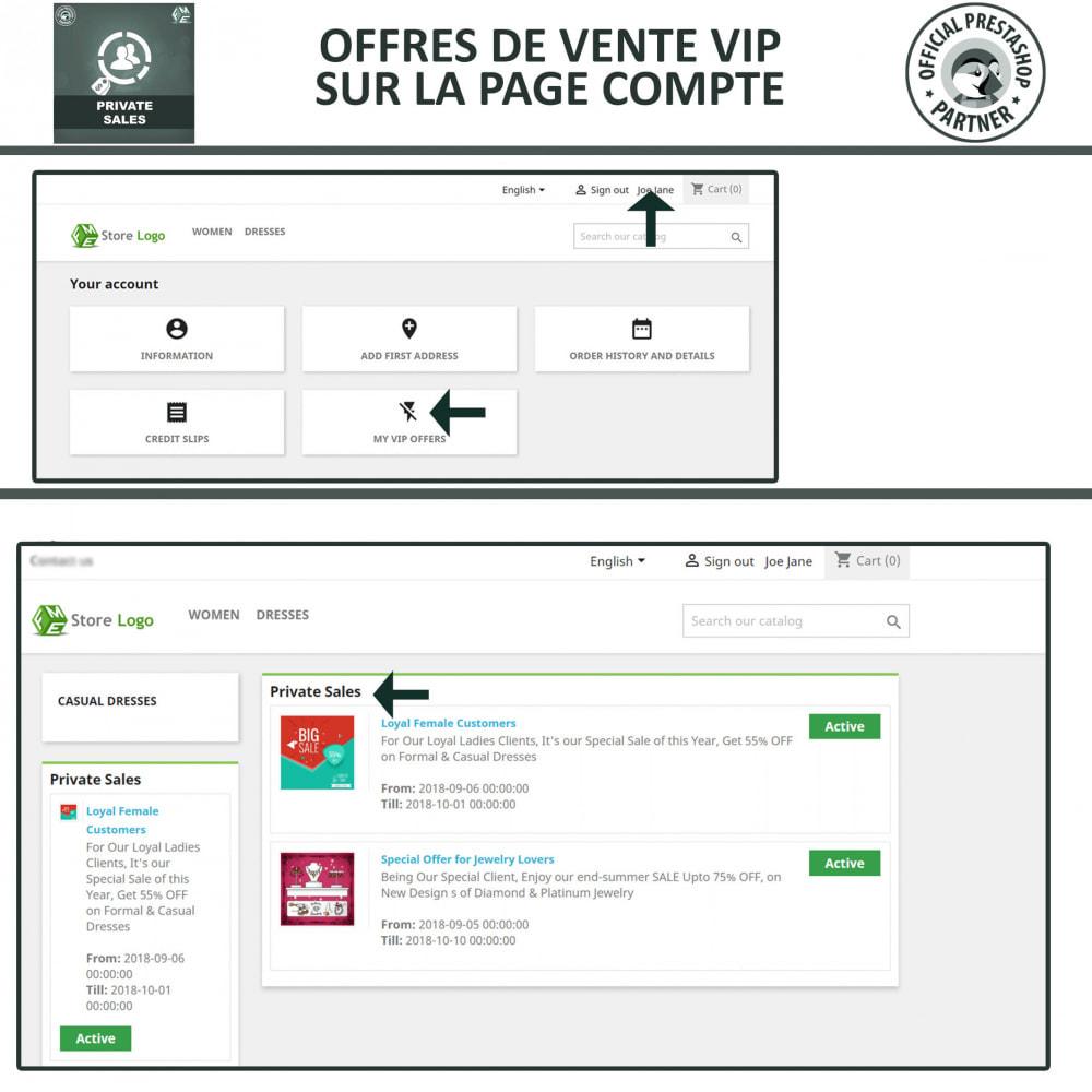 module - Ventes Flash & Ventes Privées - Catégorie privée, vente pour groupes de clients VIP - 4