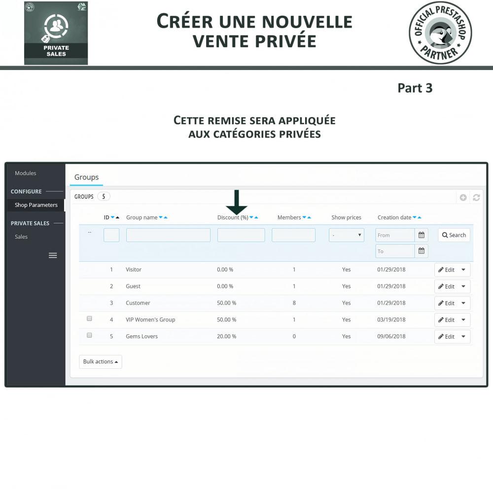module - Ventes Flash & Ventes Privées - Catégorie privée, vente pour groupes de clients VIP - 8