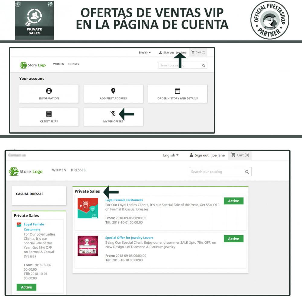 module - Ventas Privadas y Ventas Flash - Categoría privada, venta para grupos de clientes VIP - 4