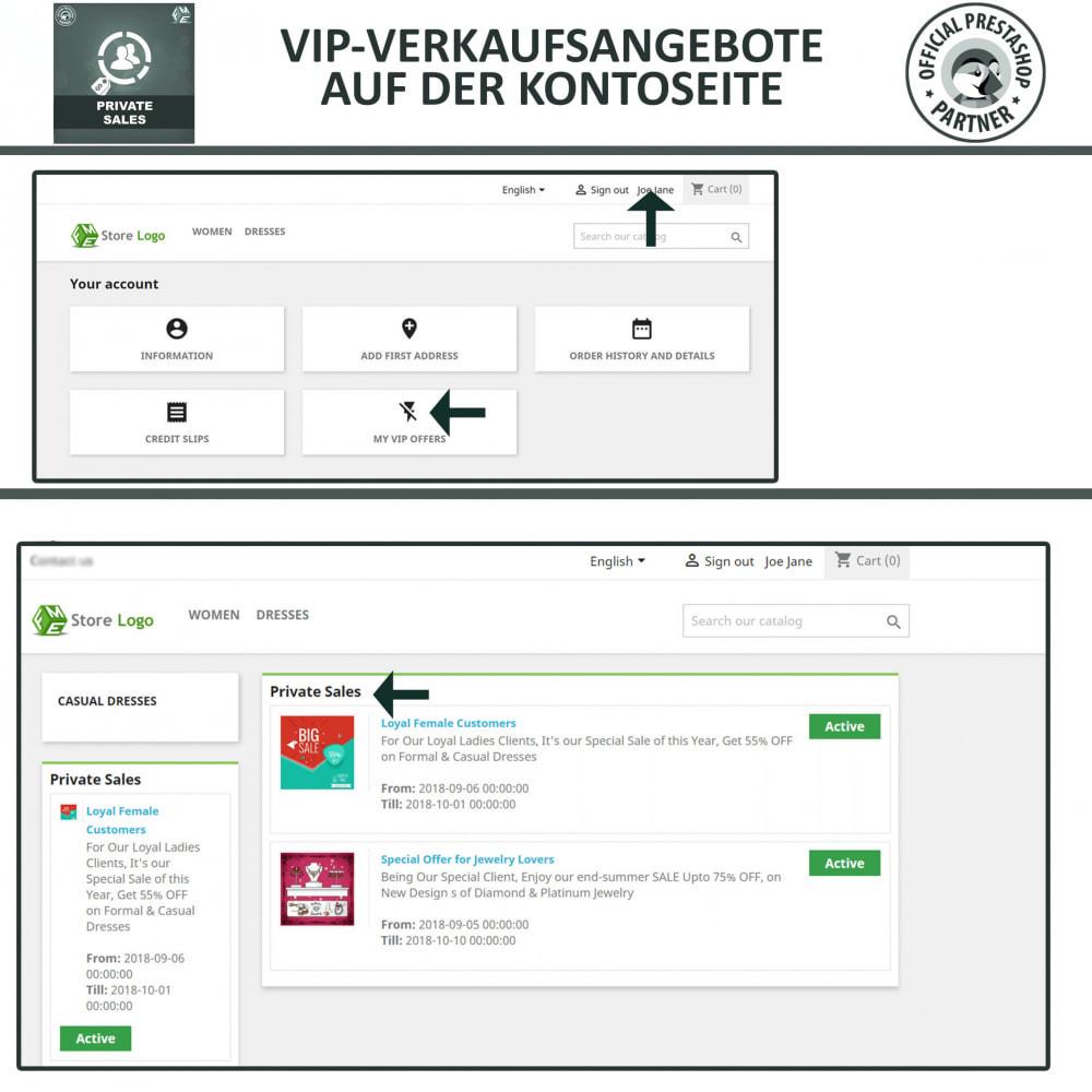module - Flash & Private Sales - Private Verkauf für VIP-Kundengruppen - 4