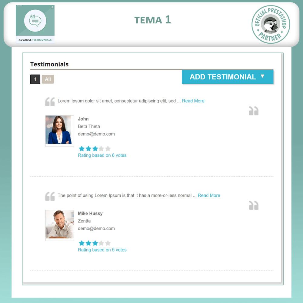 module - Отзывы клиентов - Продвинутый Отзывы - Отзывы клиентов с изображениями - 2