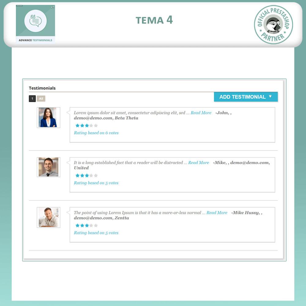 module - Отзывы клиентов - Продвинутый Отзывы - Отзывы клиентов с изображениями - 5