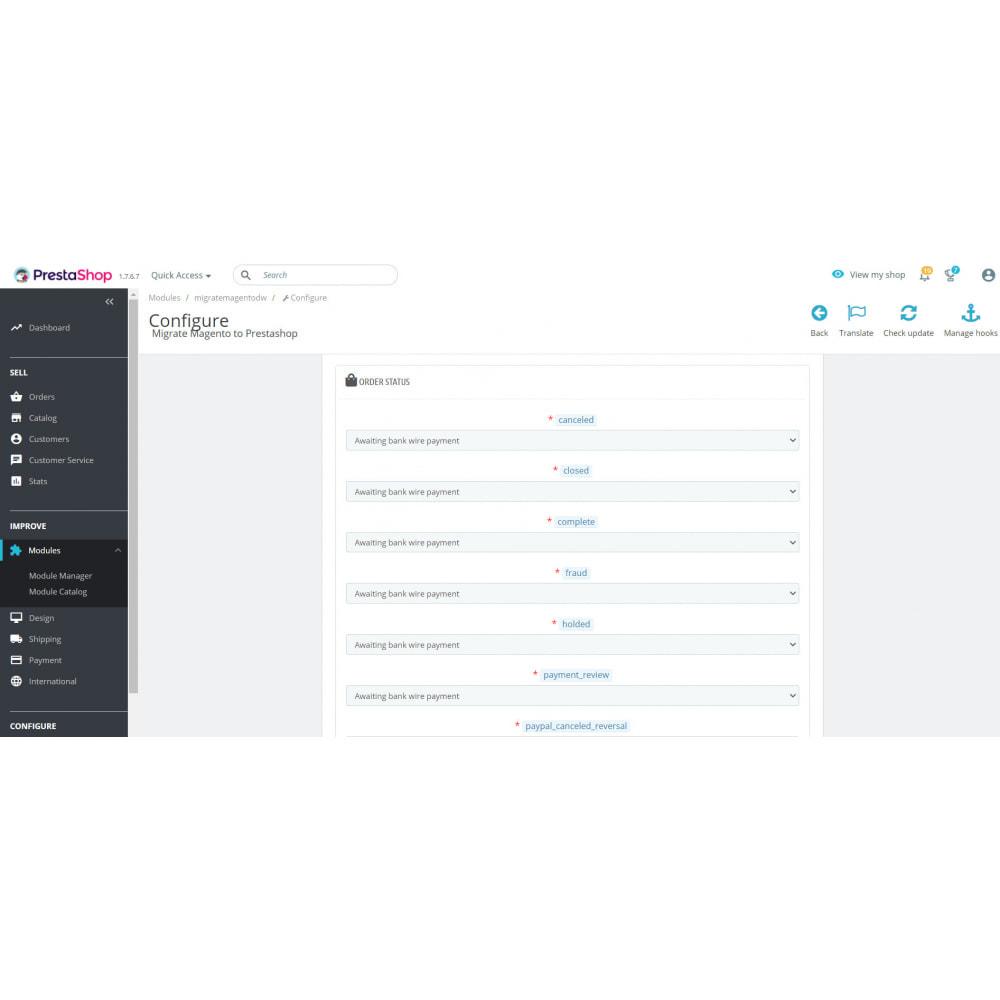 module - Миграции и сохранения данных - Migrate Magento to Prestashop - 2