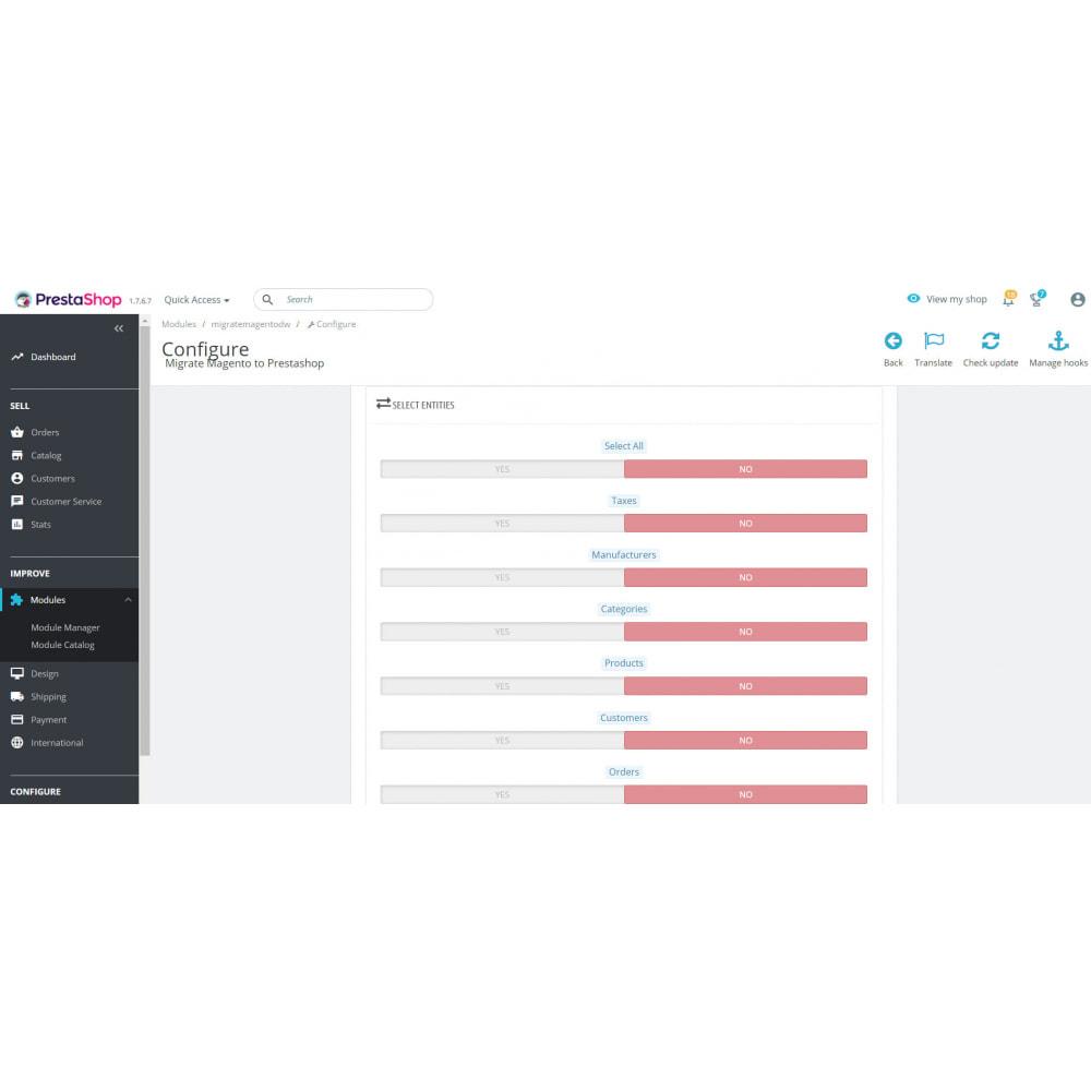 module - Миграции и сохранения данных - Migrate Magento to Prestashop - 3