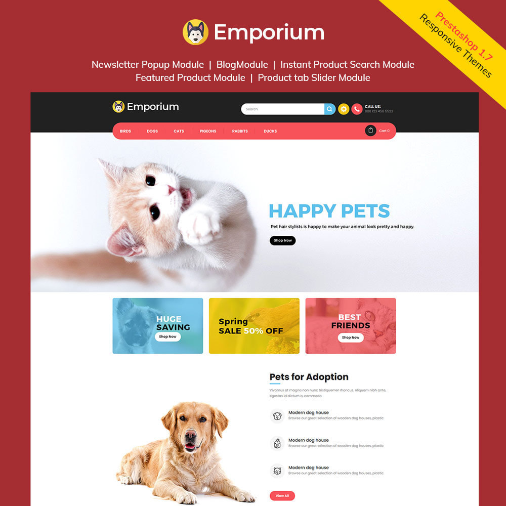 theme - Animals & Pets - Emporium Animal - Pet Care Store - 1