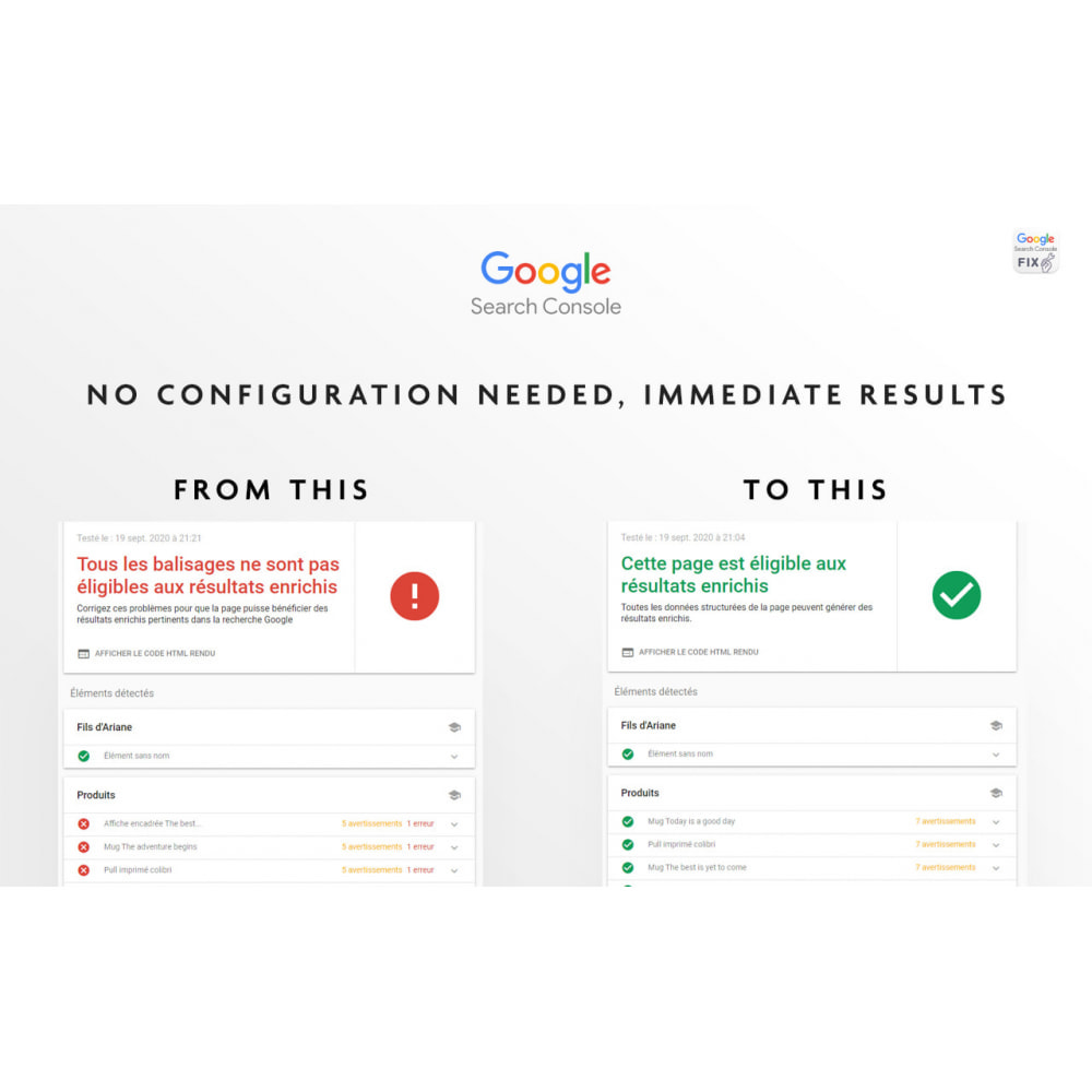 module - Opinie klientów - GoogleSearchConsole Validate AggregateRating - 2