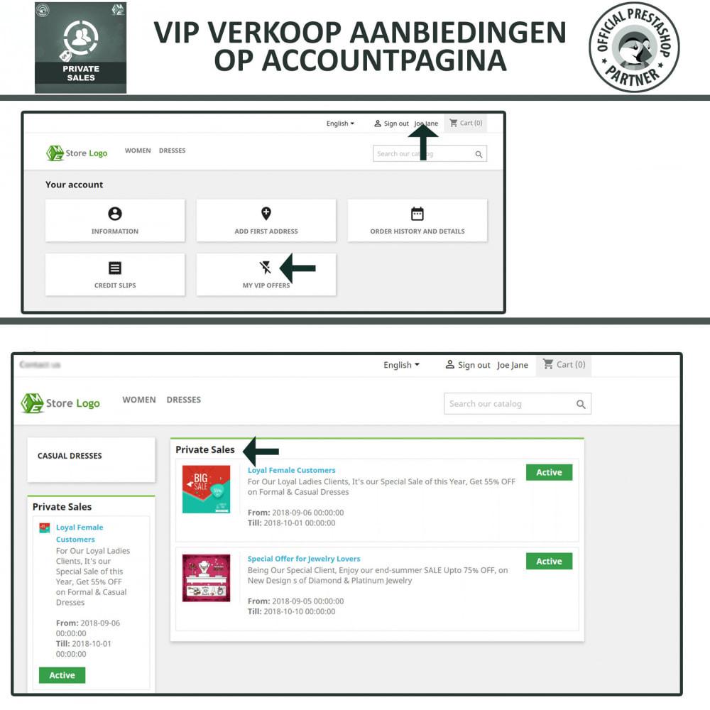 module - Uitverkoop & Besloten verkoop - Privé Verkopen voor VIP Klanten Groepen - 4