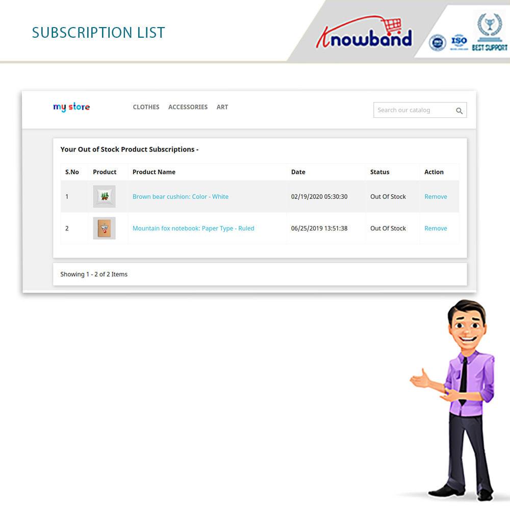 module - электронные письма и уведомления - Knowband - Back in Stock Notification - 4