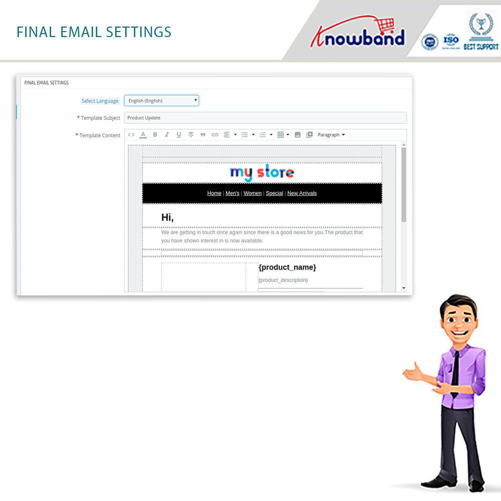 module - электронные письма и уведомления - Knowband - Back in Stock Notification - 7