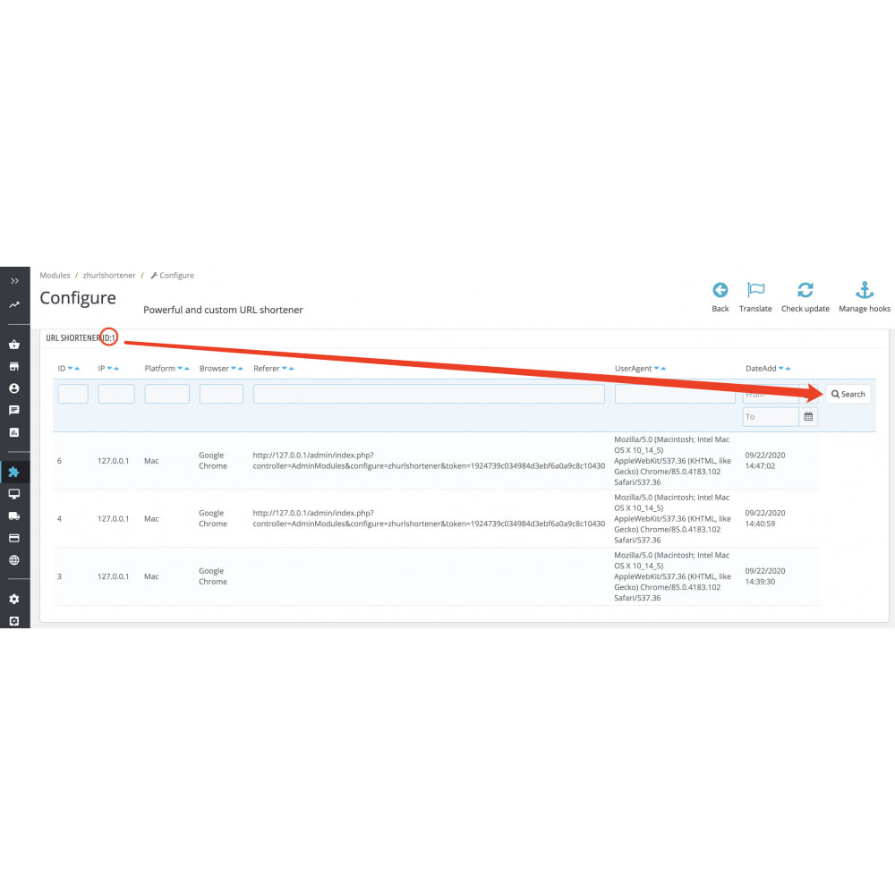 module - URL & Redirects - Powerful and custom short URL link generator for SEO - 10