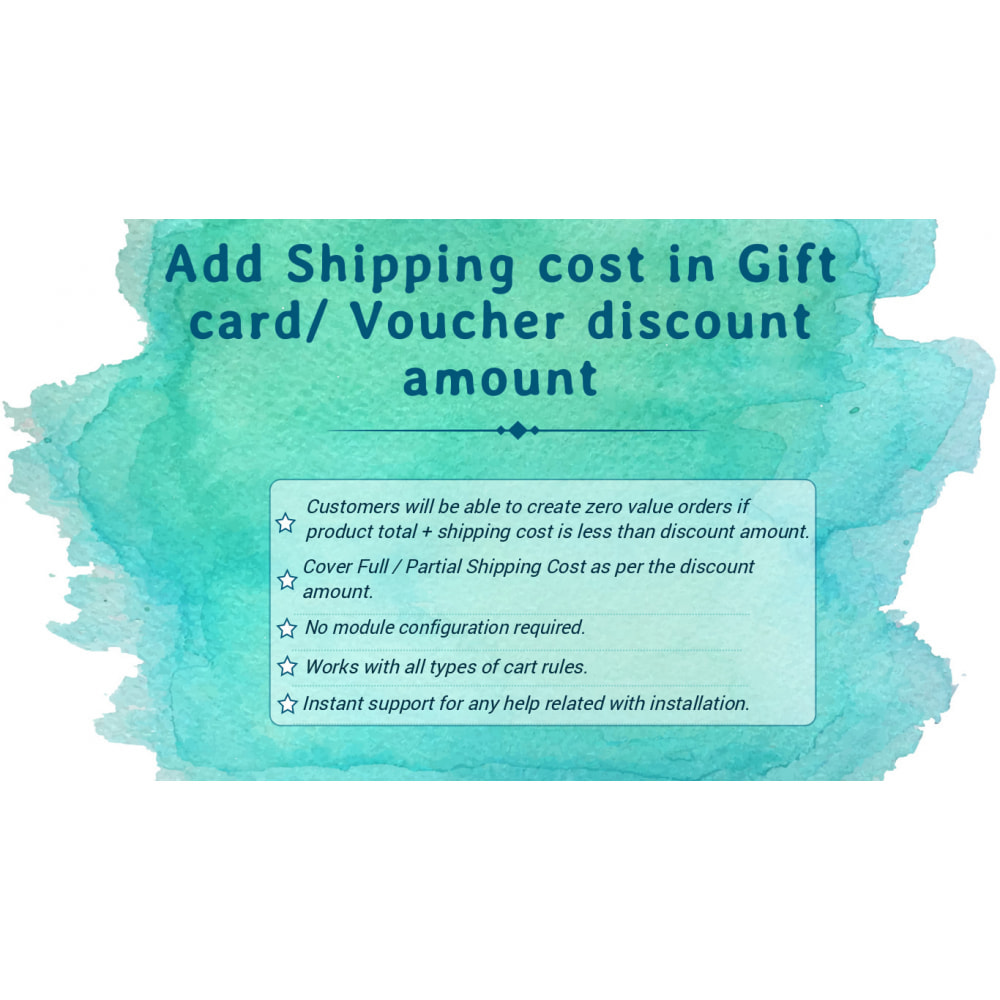 module - Список желаний и Подарочный купон - Add Shipping cost in Gift Card/ Voucher Discount amount - 1