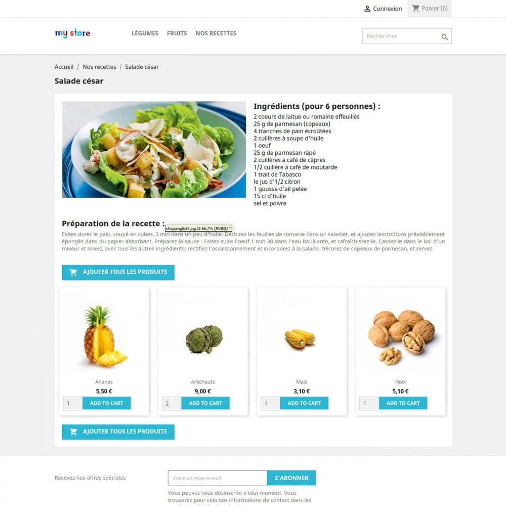 module - Alimentation & Restaurants - Livre de recette - 1
