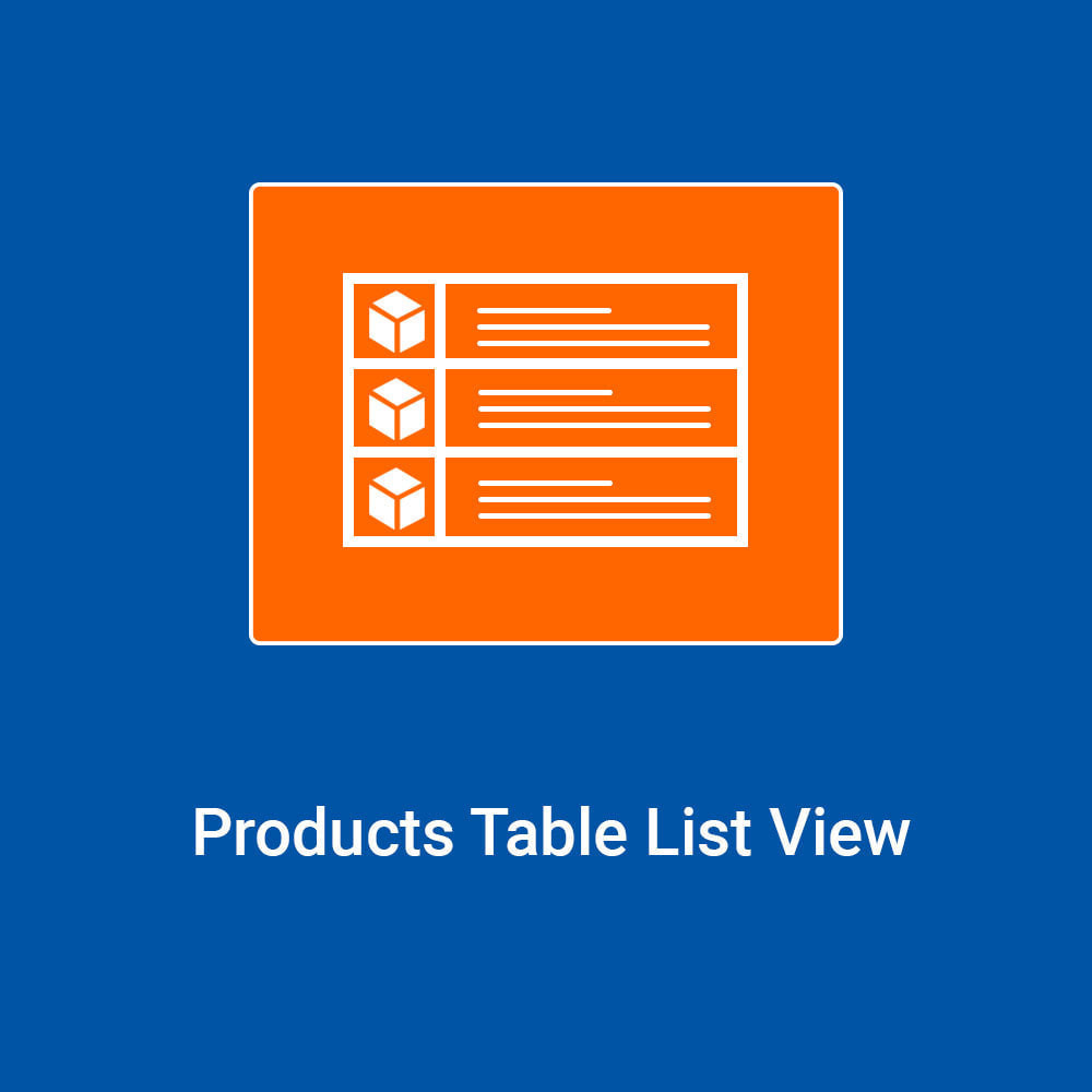 module - Registration & Ordering Process - Products Table List View - 1
