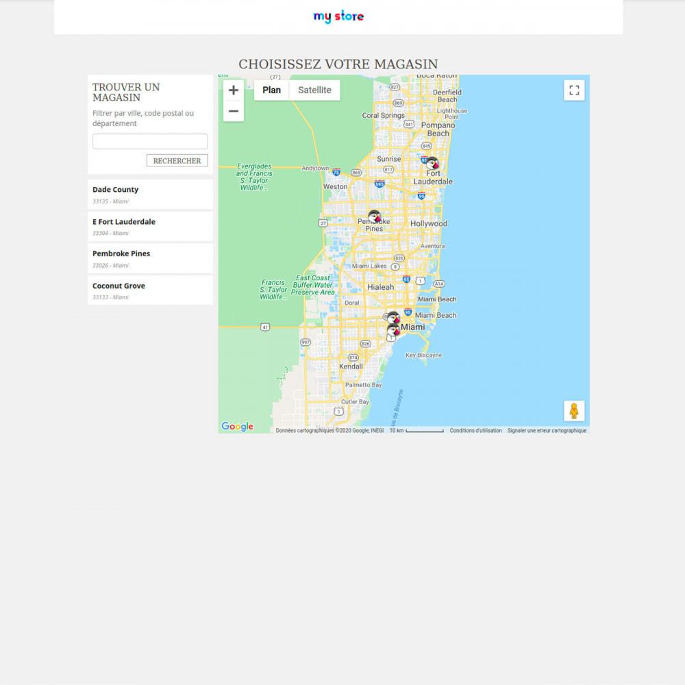 module - International & Localisation - Sélecteur de boutique / Drive - 1