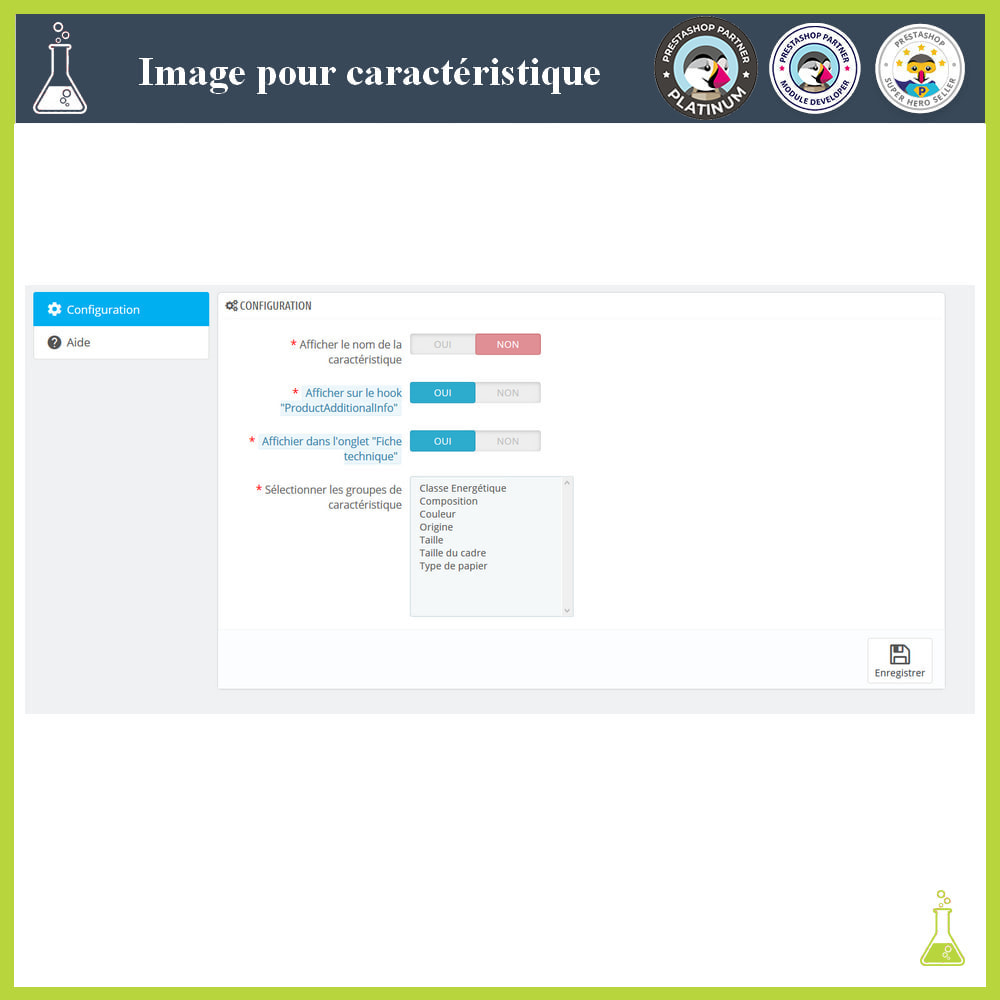 module - Visuels des produits - Ajouter des images aux caractéristiques produit - 1