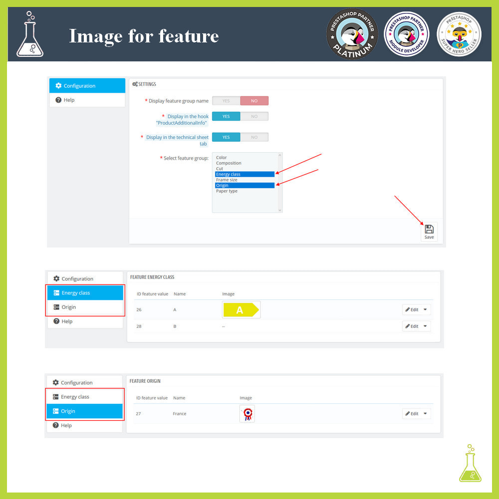 module - Produktvisualisierung - Add images to product features - 2
