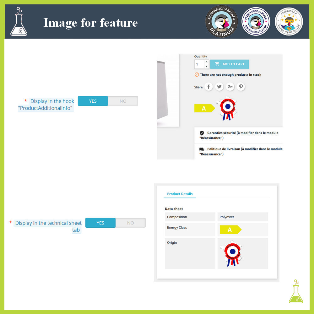 module - Produktvisualisierung - Add images to product features - 3